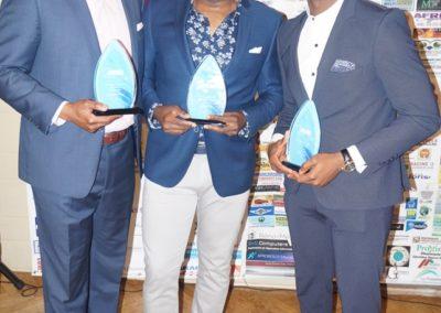 M. Claudelle Tchokonté, Dr. Jantchou Prévost & M. Loic Steve Dega – à Montréal.