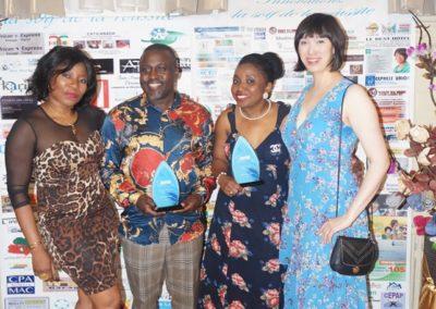 M. Hervé Jioken Zambou, Mme Dorine Tcheumeleu et invitées